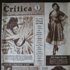 Cine: REVISTA CRITICA - Nº 82 MAYO 1953 - CATHERINE TREVIL, MARI CARMEN ALVARADO, MARIA LUISA MOREDA...... Lote 38416977