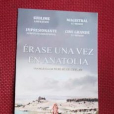 Cine: FOLLETO DE LA PELICULA - ERASE UNA VEZ EN ANATOLIA - NURI BILGE CEYLAN . Lote 38422601