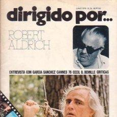 Cine: DIRIGIDO POR Nº 34 , ROBERT ALDRICH ( REVISTA DE CINE AÑO 1976 ). Lote 38446587