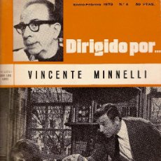 Cine: DIRIGIDO POR... Nº 4. VINCENTE MINNELLI. Lote 38542230