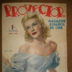 Cine: REVISTA DE CINE PROYECTOR,ABRIL DE 1936,RARA REVISTA ANTERIOR A LA GUERRA CIVIL,. Lote 38667864