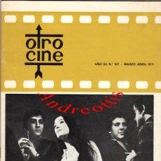 Cine: OTRO CINE AÑO XX Nº 107. 1971. PORTADA: GELOSIA DE SILVESTRE TORRA. INTERIOR: NURIA ESPERT Y .... Lote 38651326