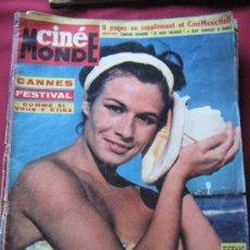 Cine: REVISTA CINE MONDE - Nº 1502 - MIRELLA NEPPO - FESTIVAL DE CANNES 1963. Lote 38657267