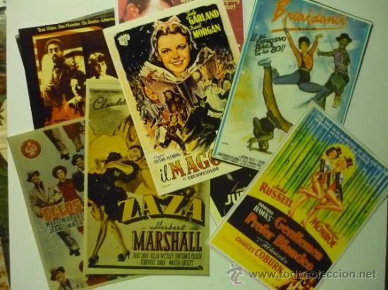 LOTE CINE MUSICAL CARTELES EN FOTO,PAPEL ETC.DE CARTELES EXTRANJEROS Y ESPAÑOLES (Cine - Reproducciones de carteles, folletos...)