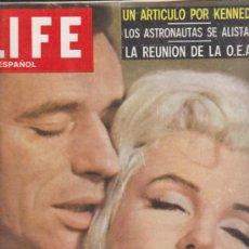 Cine: LIFE EN ESPAÑOL. 19 DE SEPTIEMBRE DE 1960. MARILYN Y SU GALÁN.. Lote 38778337