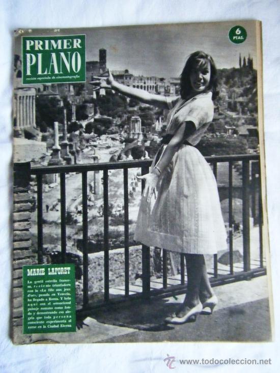 PRIMER PLANO MARIE LAFORET-WALT DISNEY-SOFÍA LOREN-SARA MONTIEL-ELVIS PRESLEY (Cine - Revistas - Primer plano)