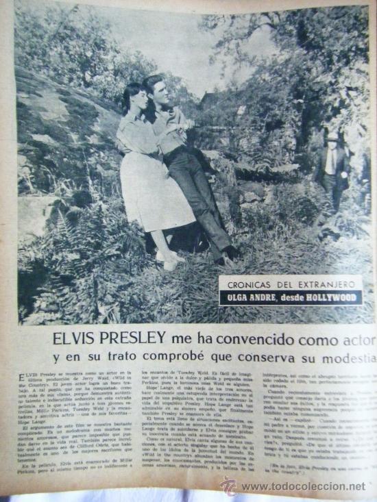 Cine: PRIMER PLANO MARIE LAFORET-WALT DISNEY-SOFÍA LOREN-SARA MONTIEL-ELVIS PRESLEY - Foto 4 - 38953066