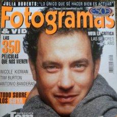 Cine: FOTOGRAMAS Nº 1840 -- TOM HANKS EL CINE COMO TERAPIA -- FEBRERO 1997. Lote 39122026