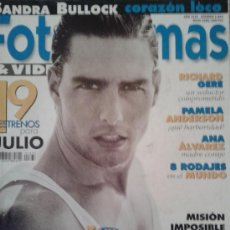 Cine: FOTOGRAMAS Nº 1833 -- TOM CRUISE OCULTO -- JULIO 1996. Lote 39134049