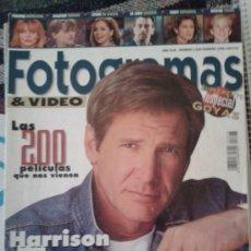 Cine: FOTOGRAMAS Nº 1828 -- HARRISON FORD ROMANTICO -- FEBRERO 1996. Lote 39134160