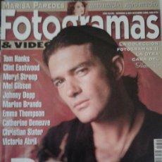 Cine: FOTOGRAMAS Nº 1824 -- BANDERAS TIERNO Y SALVAJE -- OCTUBRE 1995. Lote 39147941