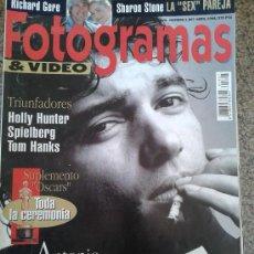 Cine: FOTOGRAMAS Nº 1807 - ANTONIO BANDERAS - ABRIL 1994. Lote 39153941