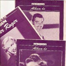 Cine: LOTE TRES ALBUM FOTOGRAMAS DE INGRID BERGMAN, GINGER ROGER Y CLARK GABLE. Lote 39177819