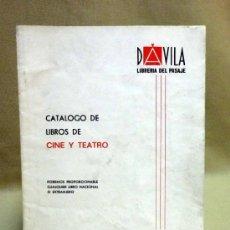 Cine: REVISTA, CATALOGO, DE LIBROS DE CINE Y TEATRO, LIBRERIA DAVILA, VALENCIA. Lote 39187360