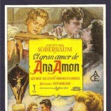 Cine: EL GRAN AMOR DE ANA AMON. Lote 39205620