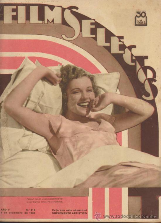 FILMS SELECTOS Nº 216. 8 DE DICIEMBRE DE 1934. (Cine - Revistas - Films selectos)