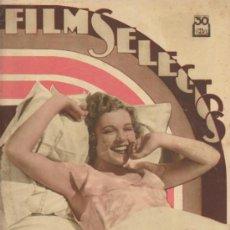 Cine: FILMS SELECTOS Nº 216. 8 DE DICIEMBRE DE 1934.. Lote 39285532