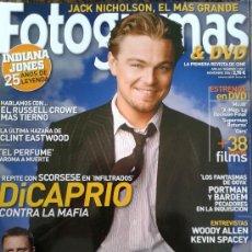 Cinema: FOTOGRAMAS Nº 1957 -- EL 007 MAS CANALLA,DANIEL CRAIG - DICAPRIO CONTRA LA MAFIA -- NOVIEMBRE 2006. Lote 39293377