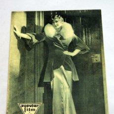 Cine: POPULAR FILM Nº 251 JUNIO 1931 REVISTA CINE ARTÍCULOS CINE HOLLYWOOD Y ESPAÑA PUBLICIDAD ÉPOCA. Lote 39293875