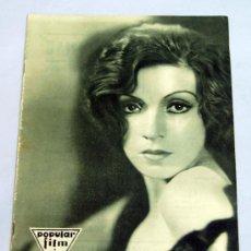 Cine: POPULAR FILM Nº 259 JULIO 1931 REVISTA CINE ARTÍCULOS CINE HOLLYWOOD Y ESPAÑA PUBLICIDAD ÉPOCA. Lote 39293917