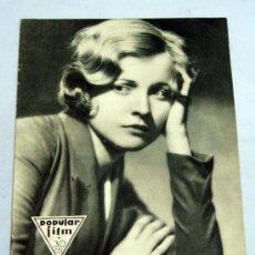 Cine: POPULAR FILM Nº 261 AGOSTO 1931 REVISTA CINE ARTÍCULOS CINE HOLLYWOOD Y ESPAÑA PUBLICIDAD ÉPOCA. Lote 39293961