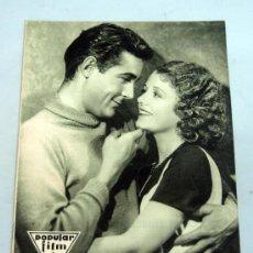 Cine: POPULAR FILM Nº 273 NOVIEMBRE 1931 REVISTA CINE ARTÍCULOS CINE HOLLYWOOD Y ESPAÑA PUBLICIDAD ÉPOCA. Lote 39294008