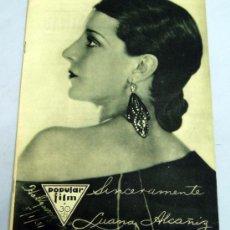 Cine: POPULAR FILM Nº 274 NOVIEMBRE 1931 REVISTA CINE ARTÍCULOS CINE HOLLYWOOD Y ESPAÑA PUBLICIDAD ÉPOCA. Lote 39294045