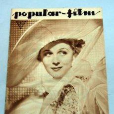 Cine: POPULAR FILM Nº 395 MARZO 1934 REVISTA CINE ARTÍCULOS CINE HOLLYWOOD Y ESPAÑA PUBLICIDAD ÉPOCA. Lote 39294144