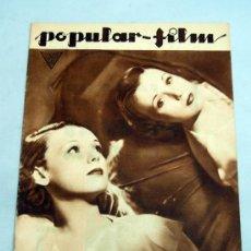 Cine: POPULAR FILM Nº 396 MARZO 1934 REVISTA CINE ARTÍCULOS CINE HOLLYWOOD Y ESPAÑA PUBLICIDAD ÉPOCA. Lote 39294177