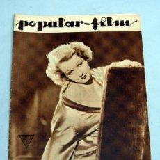 Cine: POPULAR FILM Nº 397 MARZO 1934 REVISTA CINE ARTÍCULOS CINE HOLLYWOOD Y ESPAÑA PUBLICIDAD ÉPOCA. Lote 39294214