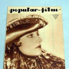 Cine: POPULAR FILM Nº 398 ABRIL 1934 REVISTA CINE ARTÍCULOS CINE HOLLYWOOD Y ESPAÑA PUBLICIDAD ÉPOCA. Lote 39294290