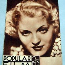 Cine: POPULAR FILM Nº 446 MARZO 1935 REVISTA CINE ARTÍCULOS CINE HOLLYWOOD Y ESPAÑA PUBLICIDAD ÉPOCA. Lote 39296041