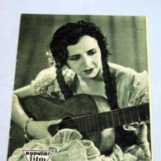 Cine: POPULAR FILM Nº 272 OCTUBRE 1931 REVISTA CINE ARTÍCULOS CINE HOLLYWOOD Y ESPAÑA PUBLICIDAD ÉPOCA. Lote 39296260