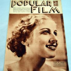Cine: POPULAR FILM REVISTA SEMANAL CINEMATOGRÁFICA Nº 453 ABRIL 1935 MARY DEL CARMEN PORTADA. Lote 39366525