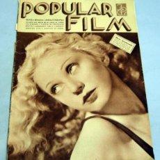 Cine: POPULAR FILM REVISTA SEMANAL CINEMATOGRÁFICA Nº 464 JULIO 1935 MARÍA GAMBARELLI PORTADA. Lote 39366811