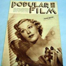Cine: POPULAR FILM REVISTA SEMANAL CINEMATOGRÁFICA Nº 468 AGOSTO 1935 GRACE MOORE PORTADA. Lote 39366858