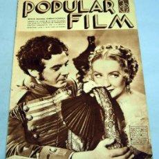 Cine: POPULAR FILM REVISTA SEMANAL CINEMATOGRÁFICA Nº 471 AGOSTO 1935 . Lote 39366956