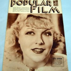 Cine: POPULAR FILM REVISTA SEMANAL CINEMATOGRÁFICA Nº 489 ENERO 1936 JOYCE COMPTON PORTADA. Lote 39367081