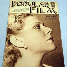 Cine: POPULAR FILM REVISTA SEMANAL CINEMATOGRÁFICA Nº 490 ENERO 1936 PILAR MUÑOZ PORTADA. Lote 39367125