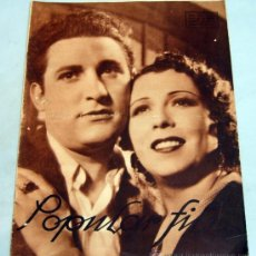 Cine: POPULAR FILM REVISTA SEMANAL CINEMATOGRÁFICA Nº 505 ABRIL 1936 PORTADA. Lote 39367363