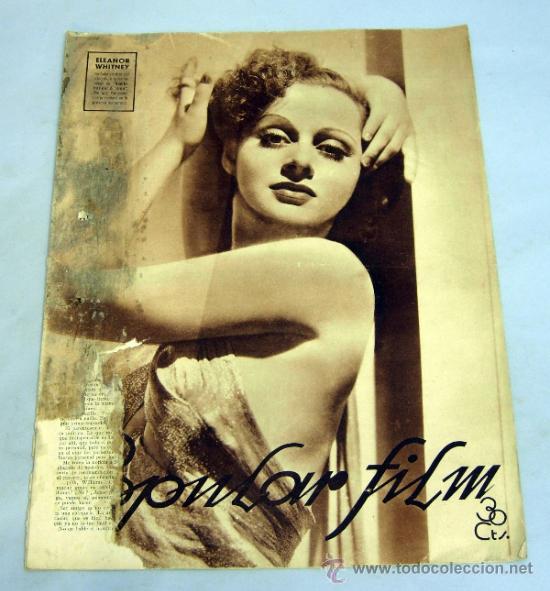 POPULAR FILM REVISTA SEMANAL CINEMATOGRÁFICA Nº 512 JUNIO 1936 ELEANOR WHITNEY PORTADA (Cine - Revistas - Popular film)