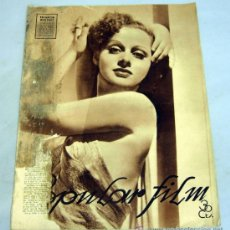 Cine: POPULAR FILM REVISTA SEMANAL CINEMATOGRÁFICA Nº 512 JUNIO 1936 ELEANOR WHITNEY PORTADA. Lote 39367395