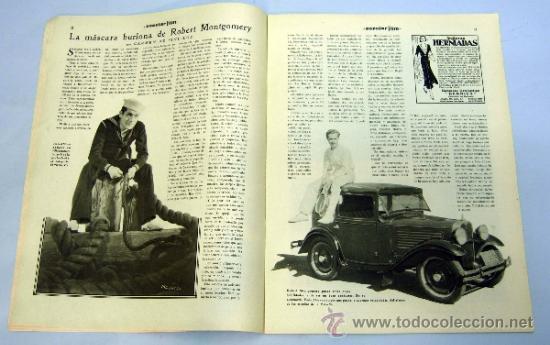 Cine: Popular Film nº 272 Octubre 1931 revista cine artículos cine Hollywood y España publicidad época - Foto 3 - 39296260
