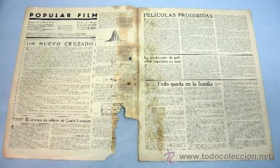 Cine: Popular Film revista semanal cinematográfica nº 512 Junio 1936 Eleanor Whitney portada - Foto 2 - 39367395