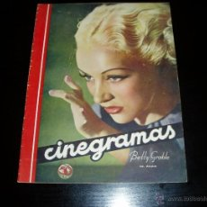 Cine: CINEGRAMAS Nº 85. 26 ABRIL 1936. REVISTA CINE. BETTY GRABLE.. Lote 39464289