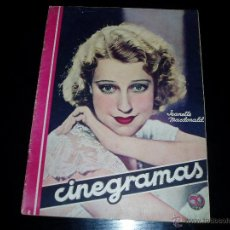 Kino - CINEGRAMAS Nº 6. 21 OCTUBRE 1934. REVISTA CINE. JEANETTE MACDONALD. - 39465438