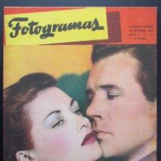 Cine: REVISTA DE CINE FOTOGRAMAS Nº 21 - 15 DE SEPTIEMBRE 1947 ORIGINAL YVONNE DE CARLO HOWARD DUFF. Lote 54320478