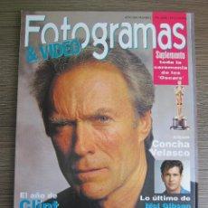 Cine: REVISTA FOTOGRAMAS Nº 1796. ABRIL 1993. CLINT EASTWOOD. CINE. Lote 130029508