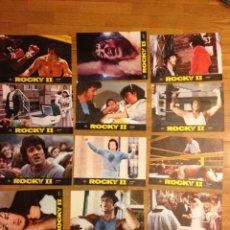 Cine: 12 CARTELES DE PELICULA ROCKY II.FOTO CROMOS.. Lote 39742791