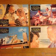 Cine: 4 CARTELES DE PELICULA LA ISLA DEL ADIOS. FOTO CROMOS.. Lote 39742960